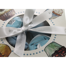 Cupcake set Blue Butterfly